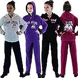 Mädchen College Sport Anzug Trainingsanzug Sportanzug Jacke Hose Jogginganzug