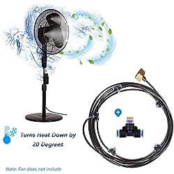 Système d'irrigation Système de brumisateur extérieur pour Ventilateur Kit De Refroidissement Patio Atomisation Micro Sprinkler Irrigation Jardin Refroidissement Brumisateur, 16.4FT (5M)