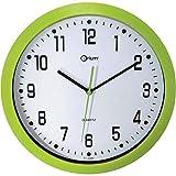Orium 2116790141 - Orologio da parete silenzioso, diametro 30 cm, Verde