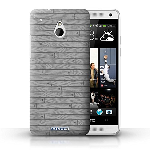 Kobalt® Imprimé Etui / Coque pour HTC One/1 Mini / Beige conception / Série Motif Bois Gris