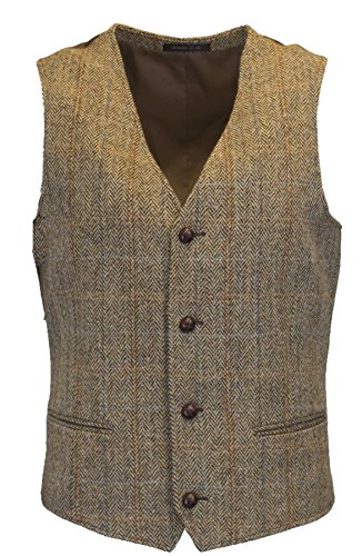 Walker and Hawkes - Chaleco - Cuadros - Hombre Beige