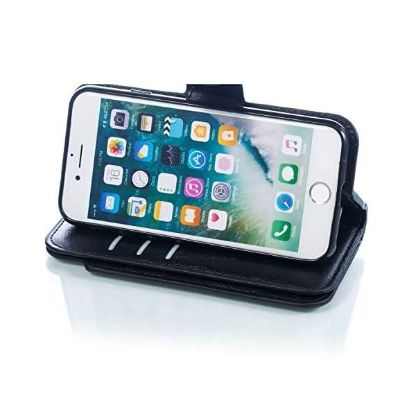 ba1f1893c90 DENDICO Cover iPhone 7 / iPhone 8, Custodia Pelle Portafoglio per Apple iPhone  7 / iPhone 8 [Slot per Schede] [Chiusura Magnetica] [Funzione Stand] Cover  a ...