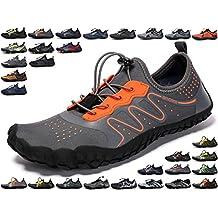 SINOES Hombres Mujeres Zapatos de Agua Descalzo Quick Dry Aqua Calcetines de Piel Agujeros de Drenaje