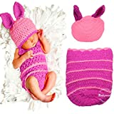 Babymoon (Set of 2) Designer Beautiful Crochet Costume, Baby Photography Photoshoot Props, Babyshower Gift