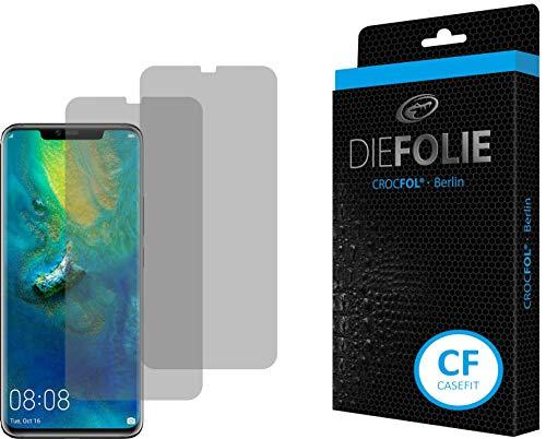 Crocfol Bildschirmschutz für Huawei Mate 20 Pro: 2X DIEFOLIE Schutzfolie, 1x DASFLÜSSIGGLAS flüssiges Glas - Casefit Folie, Nutzung mit Schutzhülle