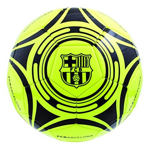Barcelona FC Boy Barcelona Fluo–Balón de fútbol, color amarillo, talla 5