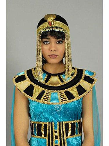 Generique - Ägyptische Cleopatra Halskette Gold-schwarz (Kragen ägyptische Halskette)