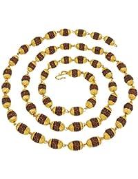 Charms Long Mala Necklace for Men (Golden)(MALA-09)