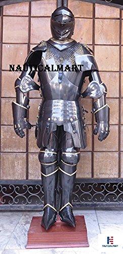NAUTICAL MART LARP Rüstung mittelalterliche Ritter SCA, geeignet -