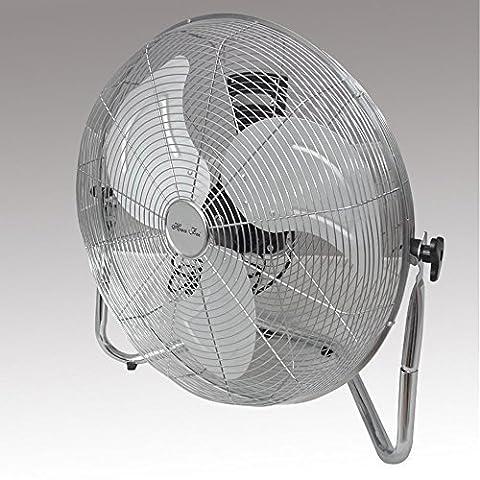 20'' (50 cm) Commercial Portable High Velocity Air Circulation Floor Fan 3 Speed Tilting Chrome Finish