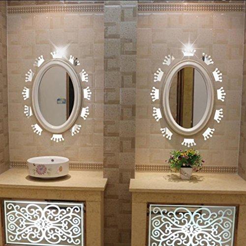 3D Acryl Spiegel Wandaufkleber SOMESUN Fensterbilder Prinzessin Crown Form Aufkleber Dekor (Crown Prinzessin Gold Rot Und)