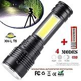 SamMoSon Portatile XM-L T6 COB LED Torcia Zoomable 18650 Torcia Lampada Lanterna - T6 Torcia + Batteria L21