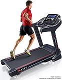 Sportstech F37 Profesional - cinta correr plegable con velocidad hasta 20 km/h, superficie de carrera grande con sistema de amortiguación de hasta 130 kg, inclinación del 15%, app. para móviles, MP3