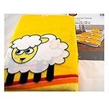 """Schlafwohl Kinder Fleece Bettwäsche 135 x 200 cm Schafe """"Sweet Sheep"""" gelb"""