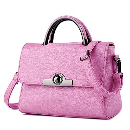ADEMI Mode Damenhandtaschen Damen Wasserdichte Umhängetasche Tragetaschen,Pink-OneSize