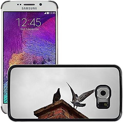 Just Cover Hot Style-Custodia rigida per cellulare, a forma di piccione, M00140023 camino Uccelli mosca, motivo uccellino/S6/Galaxy, Samsung (non compatibile con EDGE S6)