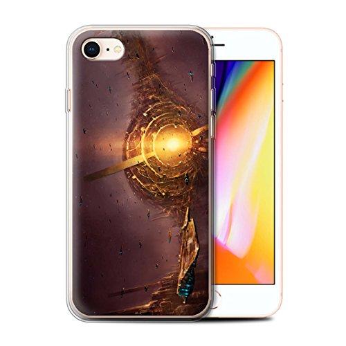 Offiziell Chris Cold Hülle / Gel TPU Case für Apple iPhone 8 / Raumfahrzeug Muster / Galaktische Welt Kollektion Raumfahrzeug