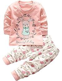 HENGSONG Petite Fille Motif Garçons Filles Coton Pyjama Bébé Four Seasons Sous-vêtements Ensembles Enfants