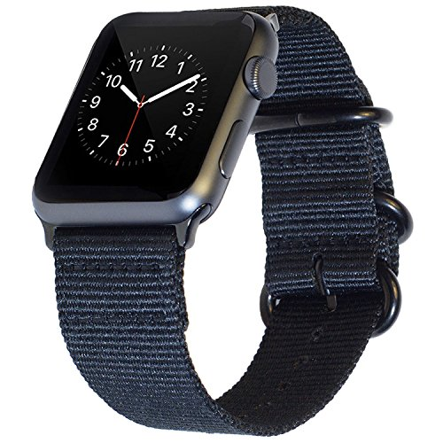 BarRan reg; Apple Watch Sport correa 38mm, Nylon Quick Release Adapters correa de reloj para Apple Watch Sport,Series 3, Series 2, Series 1