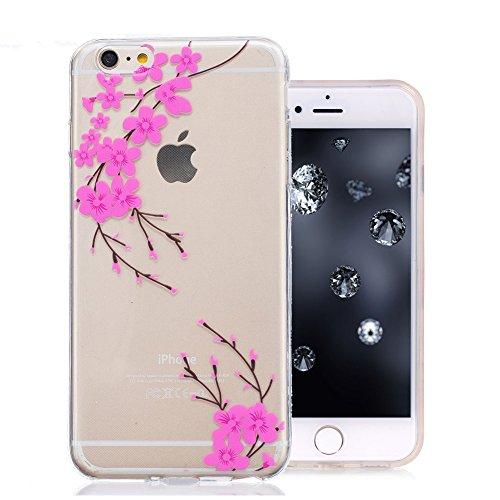 iPhone 6S Plus Coque, Aeeque Mode Fille Dessin Clear Crystal Silicone Doux TPU Protection Contre les Chutes Case Cover Housse Etui pour iPhone iPhone 6 Plus / 6S Plus 5.5 pouce Motif #11