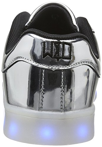 wize & ope Unisex-Erwachsene LED Low-Top Silber (Silver)