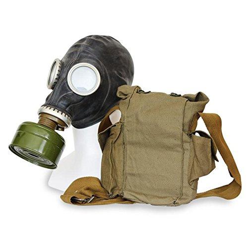 owjetische Militär Gasmaske REPLICA von Oldshop - Sammlerstück Set W/ Maske, Tasche, Filter & Bonus Anti-Fog Aufkleber inklusive - authentischer Look & verschiedene Größen erhältlich Farbe: Schwarz | Größe: L (Taschen Die Komplette Kostüme Geschichte)