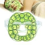 Masque de Gel Pack Visage, Réutilisable Thérapie Chaleur / Froid Paquet de Gel Hydratation Masques Complets pour Visage Enflé, Amélioration de Peau, Soulagement de Douleur et Stress