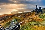 Zopix Poster Landschaft Schottland Berge Insel Wandbild -
