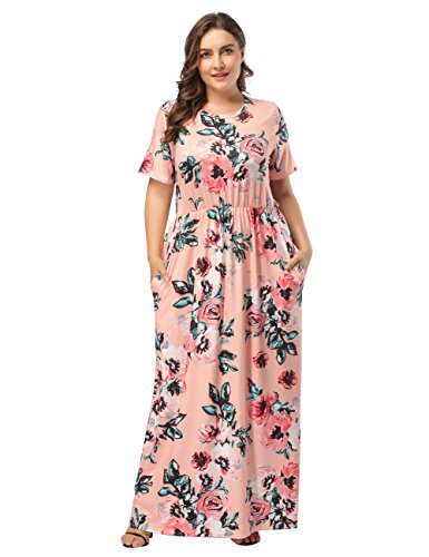 Sommerkleider Damen Elegant Strandkleid Blumen Boho Split Lang Beachwear Abendkleid