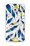 Samsung Galaxy S6- NOVAGO- Coque gel souple avec impression fantaisie (Plume)
