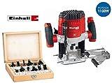 Fresatrice verticale 1100W con set 12 frese in box di legno Einhell - BT-RO 1100 E KIT