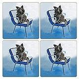 CoasterStone saugfähig Untersetzer, Cairn Terrier Hund (Set von 4), 4–1/10,2cm Multicolor