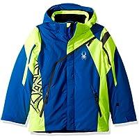 Spyder Challenger Kinder Ski Jacke - blau/gelb