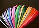 Shop Buzz Pack of 500 Quilling Strips Family Packs of 5 mm - For Arts & Crafts, Scrapbooking, Paper Decorations (Assorted Colours)