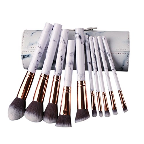 Someas 10 Pcs Marmorierung Make-up Pinsel Set Powder Foundation Lidschatten Werkzeuge Kosmetik Marmor Textur Make-Up Pinsel Augen Concealer Pinsel Highlight Und Kontur-make-up-set