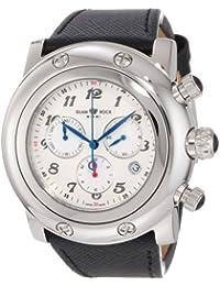Glam Rock Miami Unisex-Armbanduhr 46mm Armband Leder Schwarz Gehäuse Edelstahl Batterie Analog GR11127