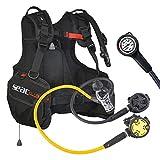 Seac tauchja cket Club respiratore Set Rental Kit P Syncro + Octo e manometro SUB, M