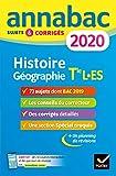 Annales Annabac 2020 Histoire-Géographie Tle L, ES...