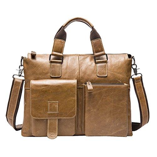 LAIDAYE Männer Handtaschen Männer Business-Paket Aktenkoffer Casual Schultertasche Kuriertasche 3