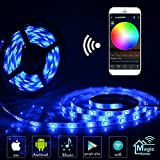 LED Strip Arbeitet mit Alexa, Google Home, IFTTT, Wifi Wireless Smart Phone Gesteuert - Led Band 5M Wasserdicht 150LEDs Full Kit
