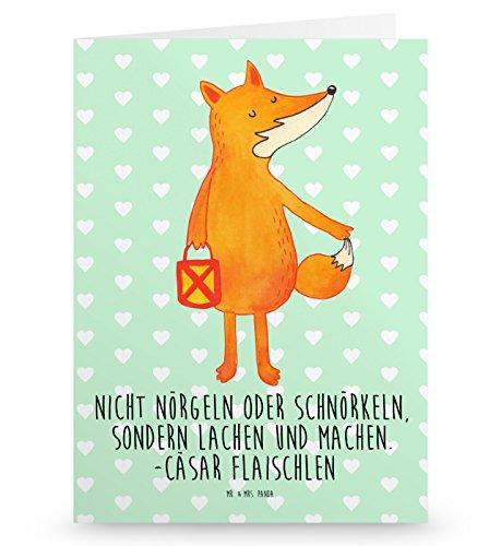 Mr. & Mrs. Panda Grußkarte Fuchs Laterne - 100{9d2e25a48f0ebe6450266662d31efe4832fd090f1d551d0a3e47a25bb72048e9} handmade in Norddeutschland - Pappe, Sankt Martin, Einladungskarte, Gutscheinkarte, Gutschein, Spruch trösten, Aufmuntern, Papier, Laternenumzug, Grusskarte, Klappkarte, Cäsar Otto Hugo Flaischlen