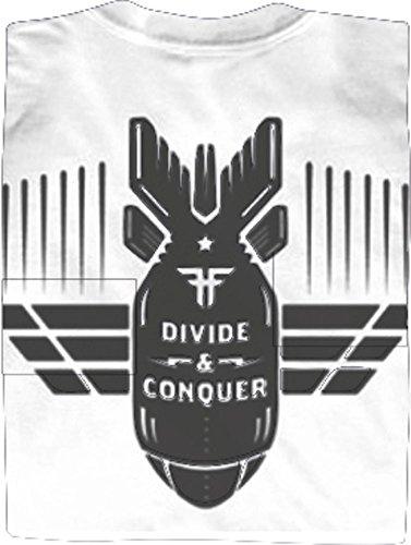 FALLEN T-Shirt DIVIDE & CONQUER S/S White/Black