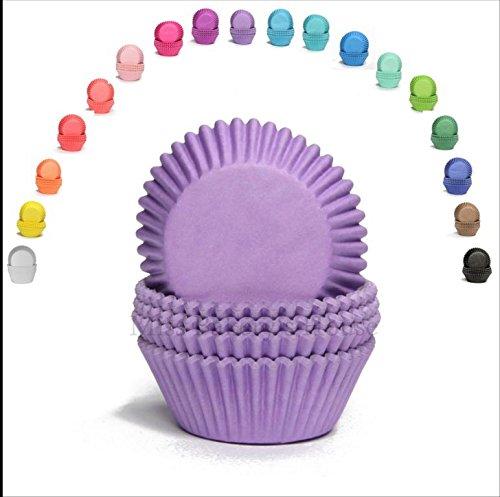 Papier-förmchen Muffinförmchen Cupcakeförmchen Muffin Kapsel Cupcake Liner (LILA - 75 Stück) (Papier-cupcake-backförmchen)
