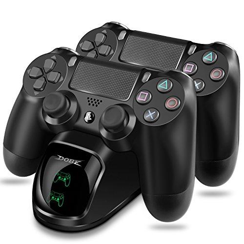PS4 Controller Ladestation, ECHTPower Dual Dualshock 4 Charger mit LED Anzeige für PlayStation 4 /PS4 Slim / PS 4 Pro Wireless Controller Gamepad,schwarz