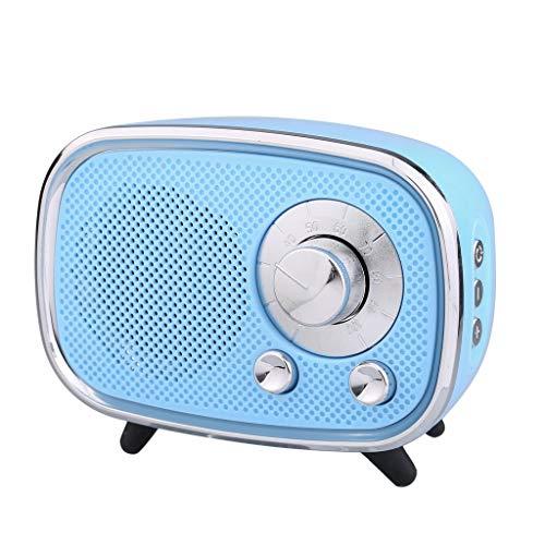 ToDIDAF Q22 Tragbarer Drahtloser Bluetooth-Lautsprecher, Mini-Musik-Player, FM-Radio + USB-Funktion, Schnelles Laden und Langer Standby-Modus - Schwarz/Rot/Blau (Blau)