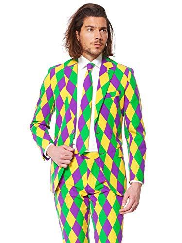 Harleking Harlekin Anzug bunt Opposuit Slimline Premium 3-teilig Gr. 50
