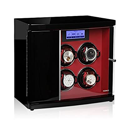 Timeless Modalo MV3 Watch Winder for 4 automatic 2 Shelves in Black Red 3004143 - inexpensive UK light store.