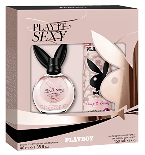 Playboy Play it Sexy Damen Geschenkset, EDT 40 ml + Deo Body Spray 150 ml, 190 ml
