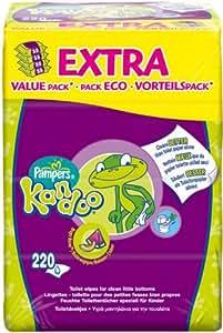 Pampers Feuchttücher Kandoo Melone feuchte Toilettentücher, 6er Pack (6 x 220 Stück)