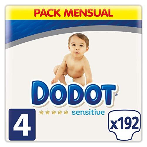 Dodot Sensitive - Pañales, 9-14 kg,  Talla 4, 192 Pañales